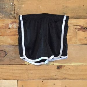 Justice black and white shorts!